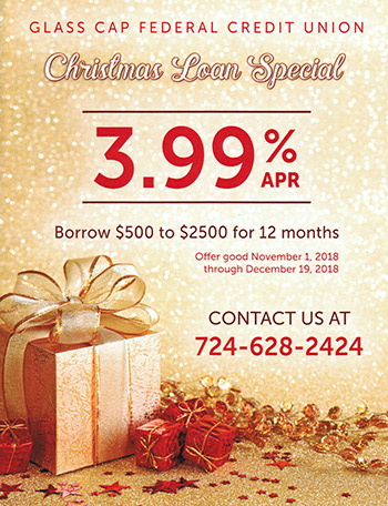 Glass Cap Federal Credit Union - Christmas Loan Special Ad
